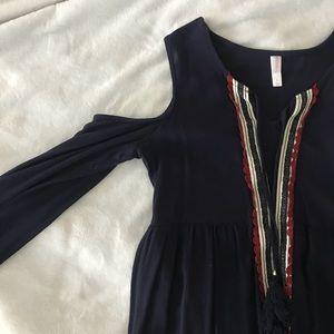 navy blue flowing dress
